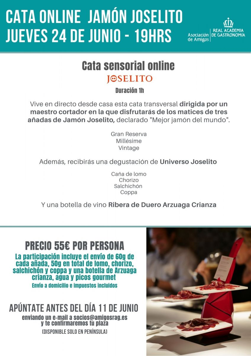 Cata online de jamón Joselito 24 junio