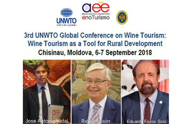 El EnoTurismo de España presenta una estrategia internacional para el sector en la III Global Conference on Wine Tourism, convocada por la Organización Mundial del Turismo de las Naciones Unidas (OMT–UNWTO) en Moldavia