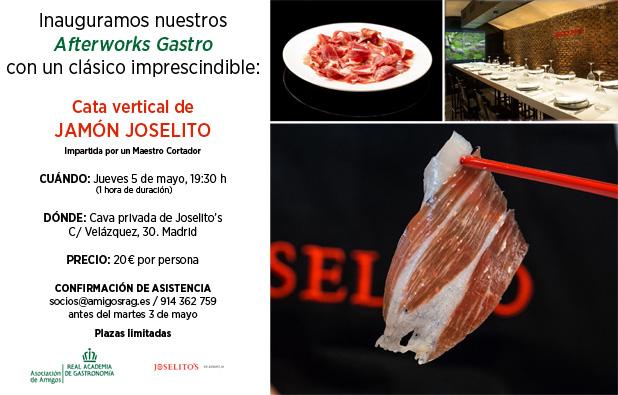 Cata vertical de jamón en Joselito's - jueves 5 de mayo